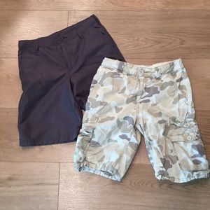 Boys Shorts size 10, two pair lot
